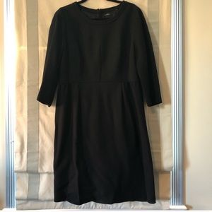 J.Crew Black Crepe Shift Dress Size 14 Pre Loved.